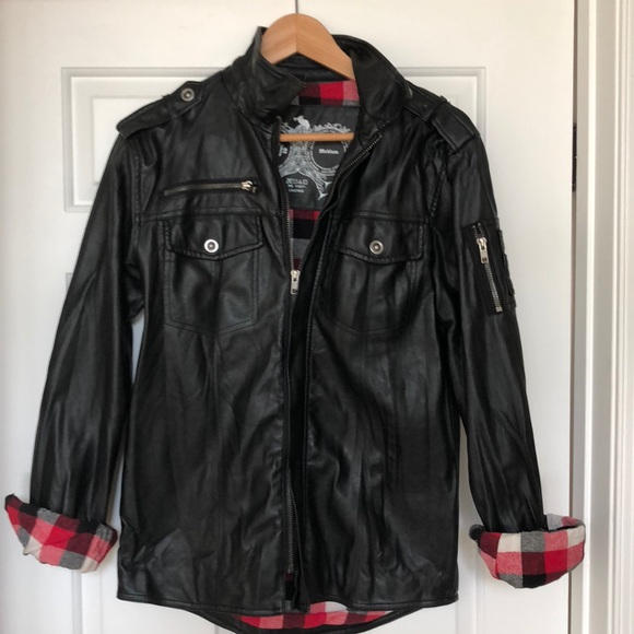 02ecf9ce4 Men's Charles & 1/2 Faux Leather Jacket